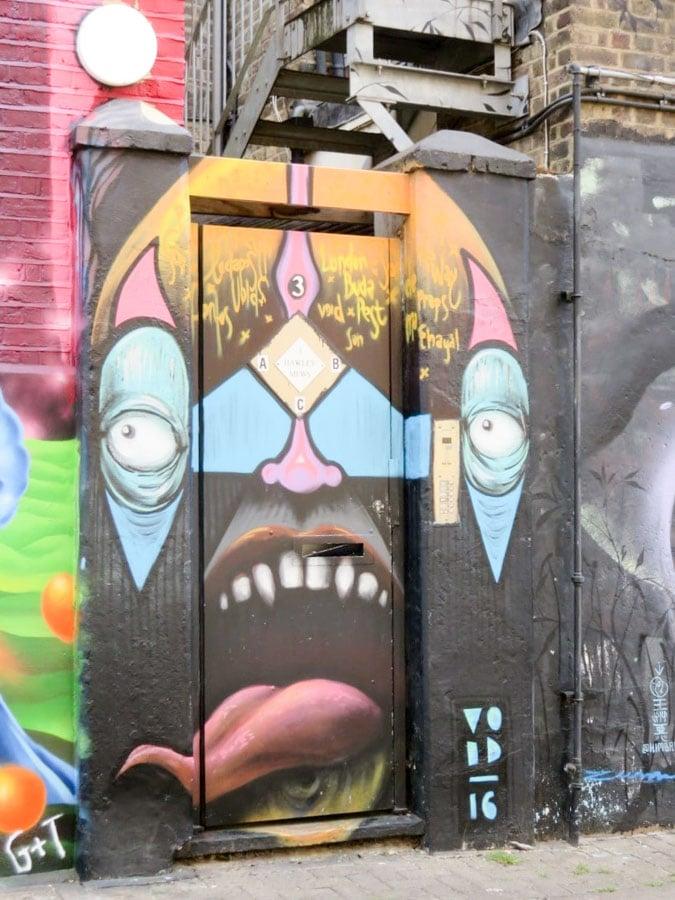 Fearsome street art hawley mews