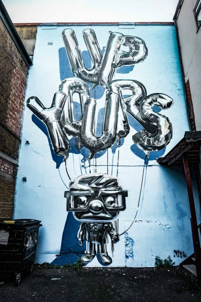 up yours street art 3d