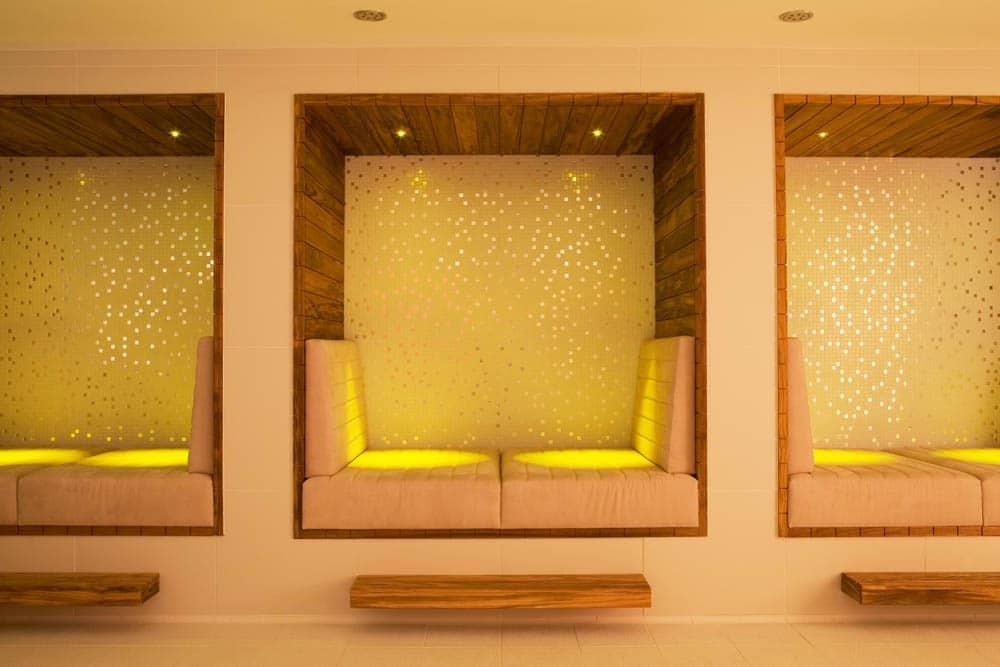 Inside the spa
