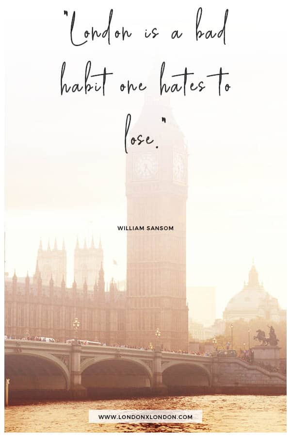 London Bad Habit Quote