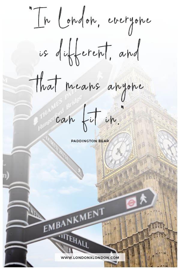 Paddington Bear Quote about London
