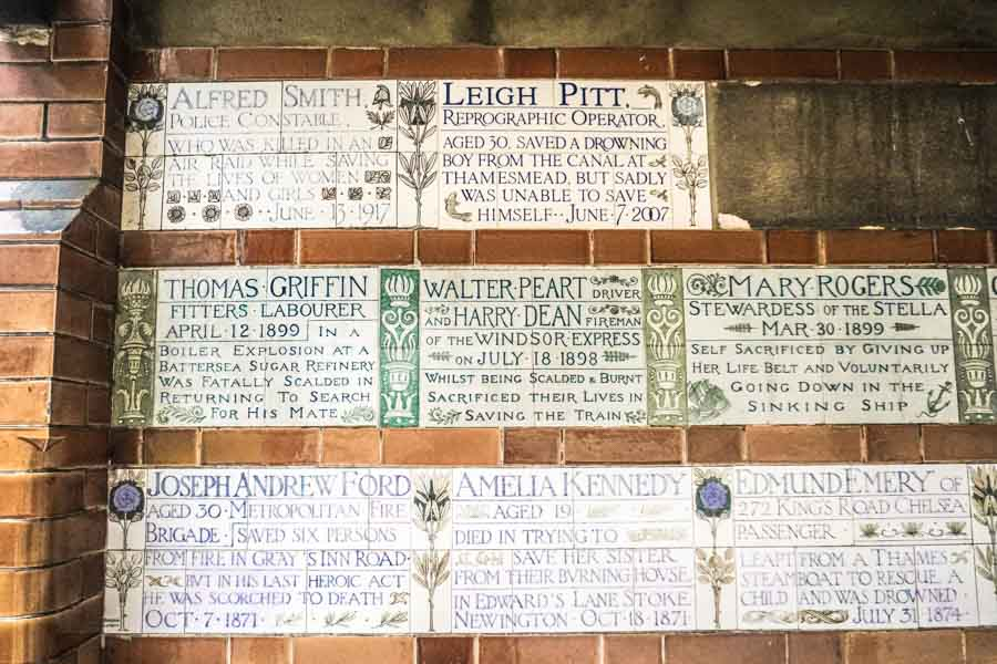 Postman's Park: London's Hidden Memorial to Heroic Self-Sacrifice