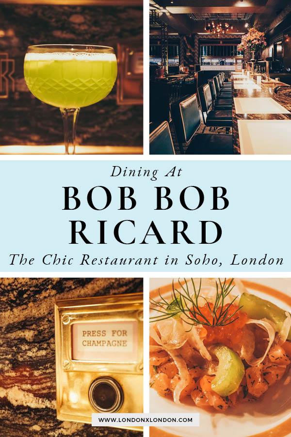 Dining at Bob Bob Ricard, Soho