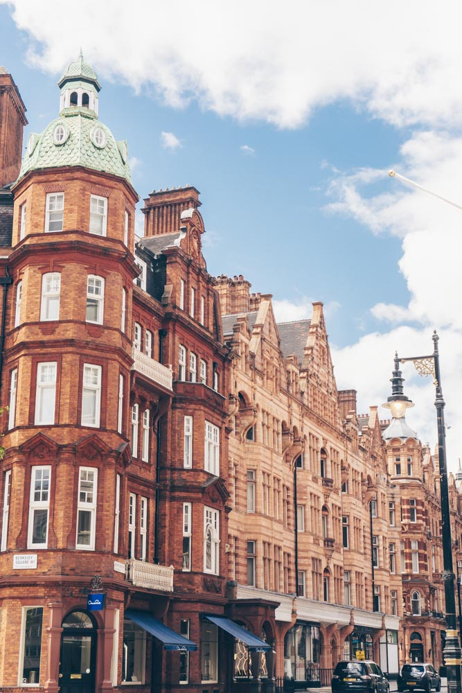 Stately buildings in Mayfair