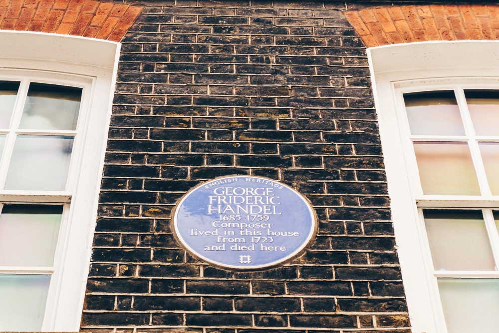 Handel Blue Plaque London