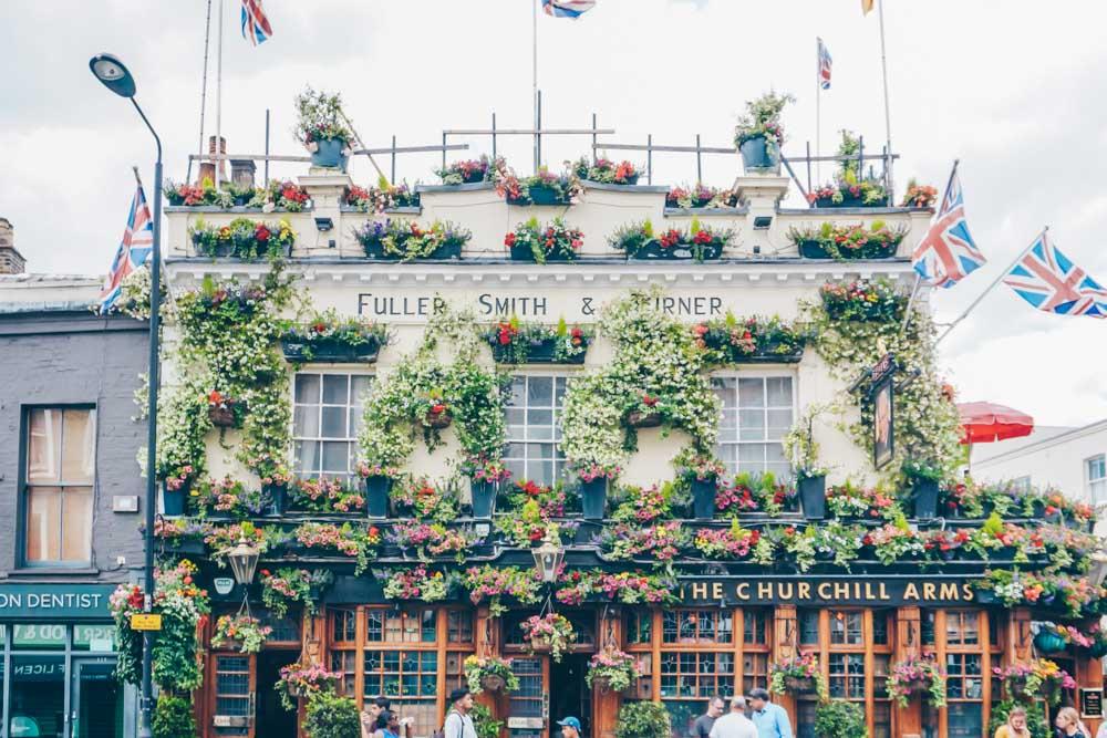 Side profile of the pub