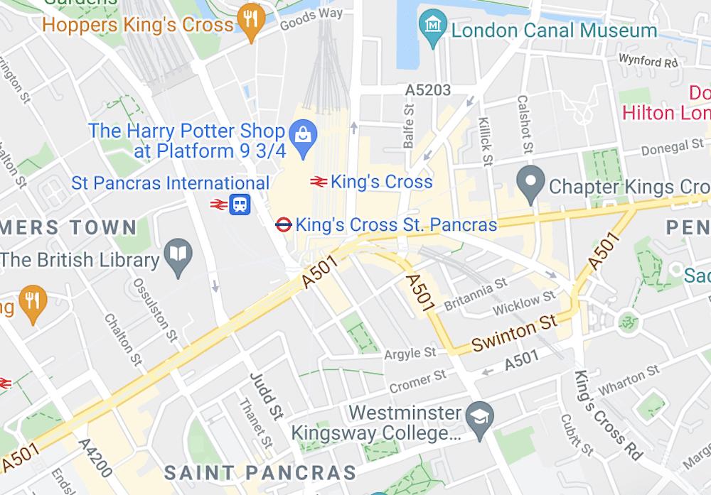 King's Cross Map