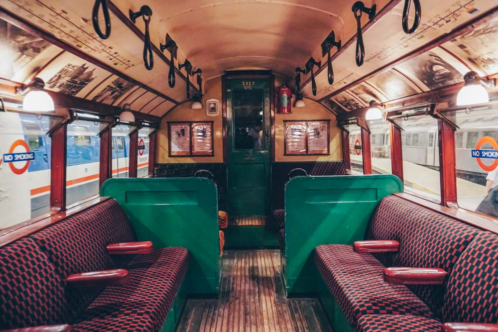 Walk through an old tube carriage
