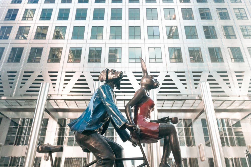 Meet Gillie + Marc – The Artists Behind Canary Wharf's Newest Sculpture