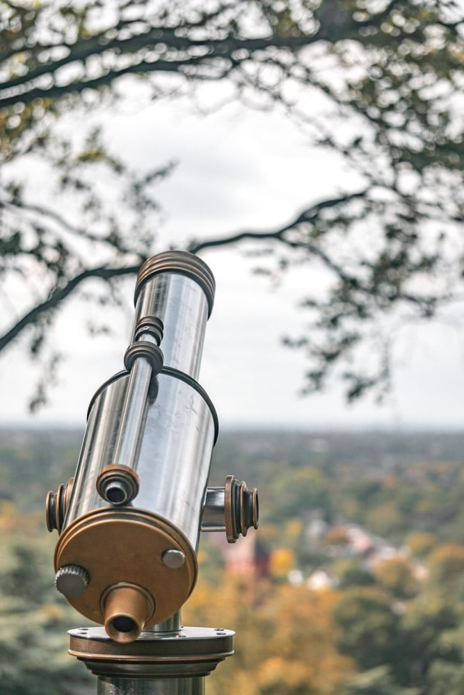 telescope on King Henry's Mound