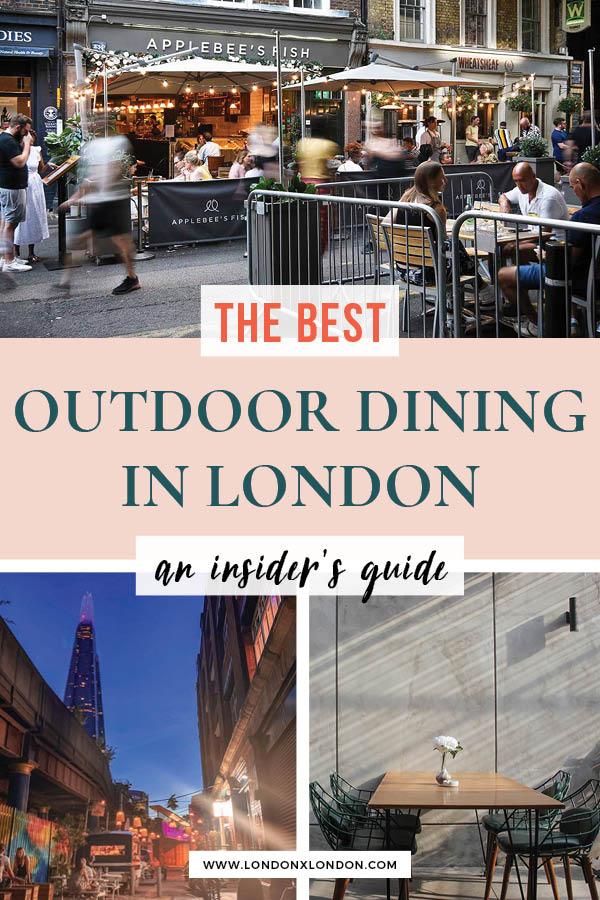Outdoor restaraunts London