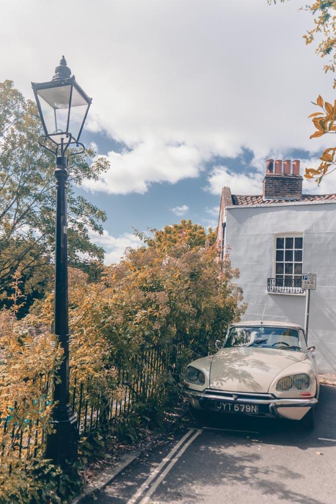 Hampstead pink car