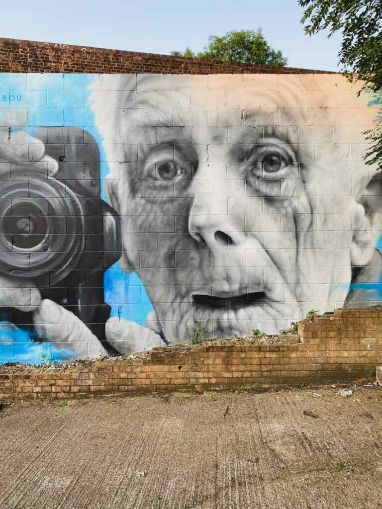 old man and a camera by Zabou