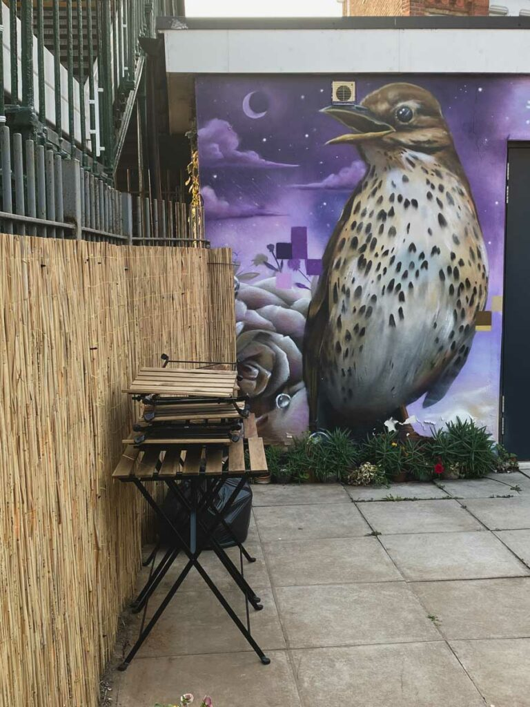 Bird and nightscape by Aspire in Penge