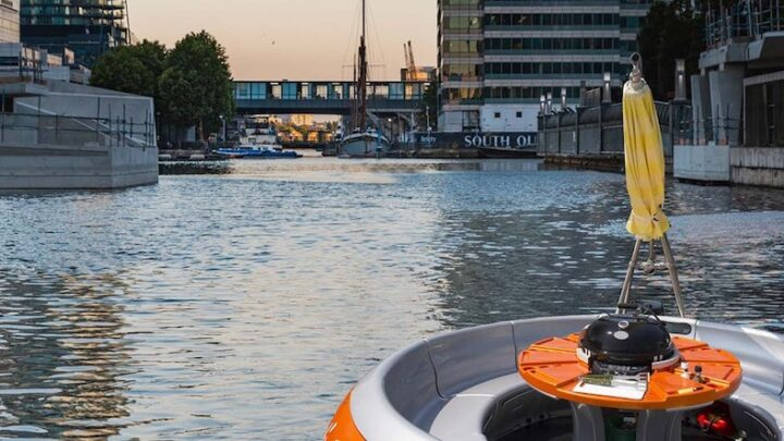 All Aboard! These New BBQ Boats Are Lighting Up The Waterways in Canary Wharf
