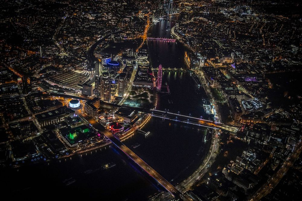 Lights over the Thames