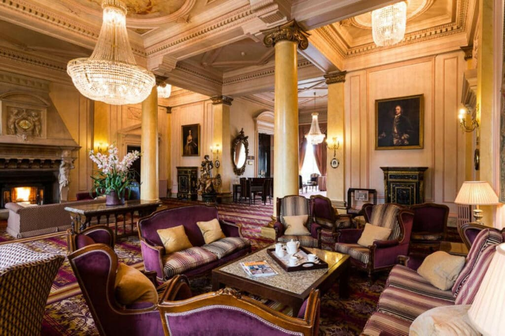 Grand interiors at Down Hall Country Hotel