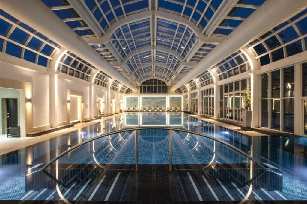 Indoor pool at Four Seasons Hotel Hampshire