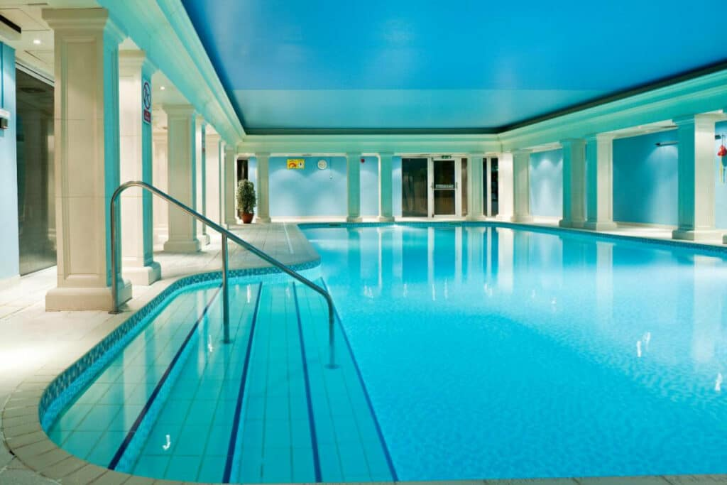 Indoor swimming pool at Hythe Imperial Hotel