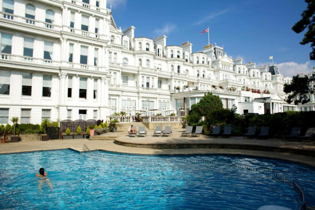 Outdoor pool at the Grand Hotel Eastbourne